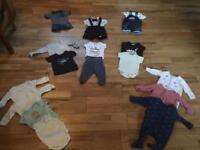 0-3 month first size bundle boys (Ralph Lauren, John Lewis)