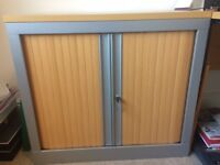 Professional Office Cupboard with lock (beech effect)