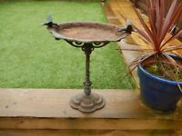 Antique Garden Ornament - Beautiful Garden Bird Bath - Cast Iron