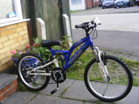 """20"""" WHEEL BOYS BIKE WITH GEARS IN GREAT WORKING CONDITION AGE 7+"""