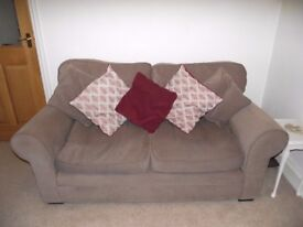 Two seater sofa width 175 cm in Taupe