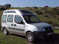 Fiat Doblo camper 1.9 diesel (similar to Berlingo) full width bed, long MOT, very good condition.
