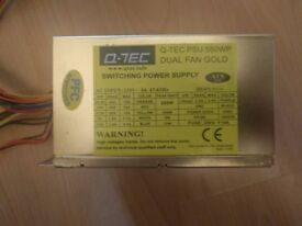 Q-TEC 550W Dual Power Supply in Gold