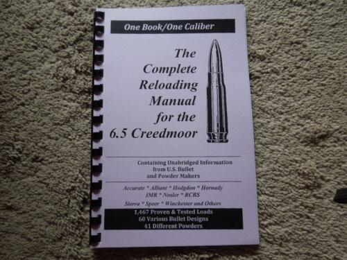 6.5 Creedmoor Complete Reloading Manual Load Books Newest Version 6.5 Creedmore