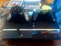 PS3 60GB (compatible w/PS2 & PS1 games) + 2 controlers + 12 games