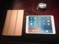 IPad mini 16gb/wifi white 1st gen,comes with USB cable/plug,magnetic cover,screen protector