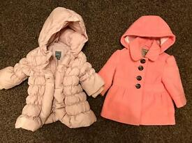 Girls Next coat 3-6 months Gap dusky pink coat