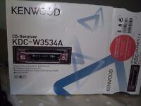 CAR CD RECEIVER/RADIO - KENWOOD W3534/A MODEL