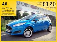 FORD FIESTA 1.2 ZETEC 5d 81 BHP Choice of 3! Finance Available (blue) 2015