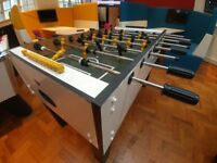 Foosball Table - Table Football, Great condition, White, Black and Green.