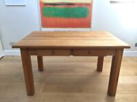 Beautiful Solid Oak Dining Kitchen Table With Drawers