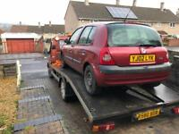 RENAULT CLIO WANTED BRISTOL AND SURROUNDING NON-RUNNER/ SPARES OR REPAIR