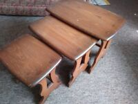 Ercol, nest of three tables
