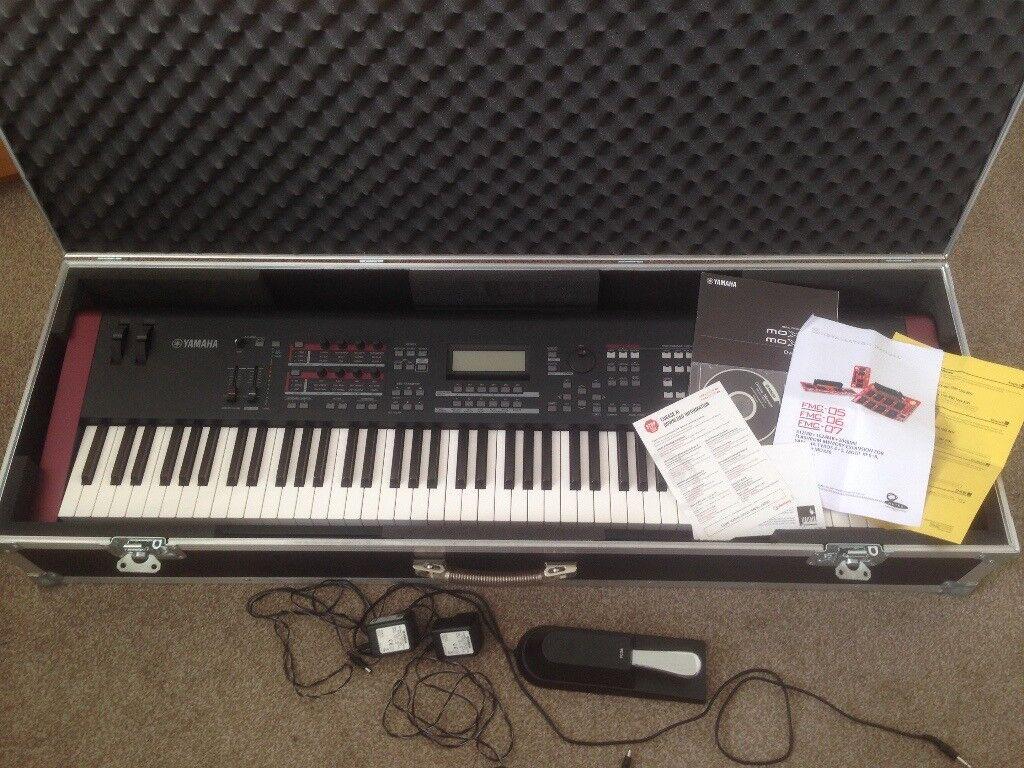 Yamaha MOXF8 (88-keys Keyboard Synthetizer Workstation) + extras for sale   Bundle! | in Canton, Cardiff | Gumtree