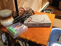Play station with 3 games and memory card