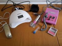 UV/LED gel nail set SHELLAC Manicure 48W Lamp, Drill and more