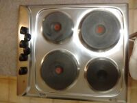 Indesit stainless steel 4 ring electric hob