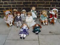 FREE DELIVERY Porcelain Dolls Leonardo Collector's Job Lot