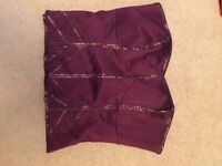 Warehouse dark purple embroidered corset size 12