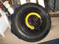 Space saving spare wheel 135/80 B14