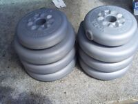 YORK PLASTIC COATED WEIGHTS