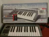 Novation Xiosynth 25 key Synthesizer, midi keyboard and Audio interface. Can deliver
