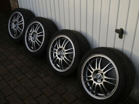 Dotz Alloy wheels and tyres 16 inch x 7 bmw vw vauxhall Brilliant condition! 4 x 100