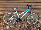 raleigh ravanna 26 in wheels, 21 gears, 18 in frame, ladies bike, front suspension, front disc brake