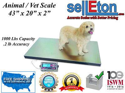 Op-922 Vet Livestock Hog Farm Scale Goat Sheep Alpaca 1000 Lb X 0.2 Lb