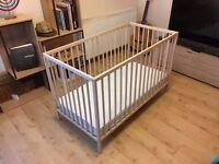 Almost new IKEA Crib + Mattress