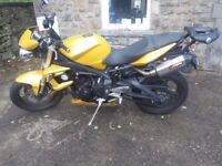 Triumph Street Triple with Top Box and other extras