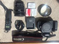 Canon 600D DSLR Camera + Canon Lens EF-S 10-18mm + Accessories