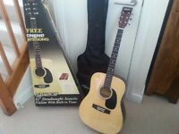 Elevation Dreadnought Acoustic Guitar With Electronic Tuner - As New