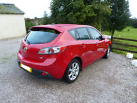 MAZDA 3 1.6 DIESEL TS2 NAV 2010 5dr TRACTION CLIMATE AND STABILITY CONTROL 6CD UP TO 74 MPG, £30 TAX