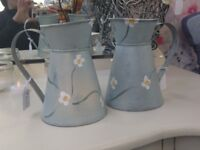 Pretty Hand Painted Jugs