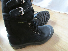 Palladium black canvas women buckle boots 6 39!