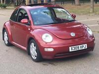 2000 VOLKSWAGEN BEETLE RED AUTOMATIC VERY LOW MILEAGE 60K FSH LOADED HEATED LEATHER SUNROOF VW AUTO