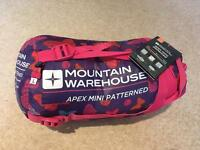 Child's sleeping bag from Mountain Warehouse.