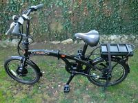 Coyote Connect Electric Assist Folding Bike With Extras