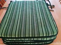 Garden seat cushions x 4