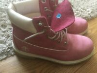 Ladies Pink Timberland Boots size 5/6