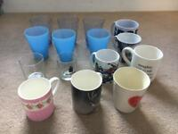 Job lot of mugs/glasses