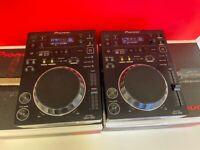 Pair Pioneer CDJ-350 Compact DJ Multi Player