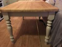 Farmhouse style solid wood table