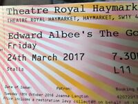 """Damien Albee's """"the goat"""" 2x great seats for this Friday night!"""