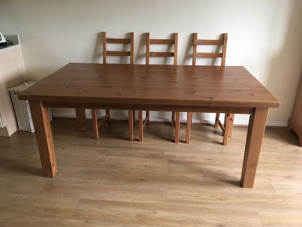 IKEA Forsby Solid pine dining table in Leicester  : 86 from www.gumtree.com size 1024 x 768 jpeg 95kB