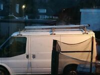Short wheel base Transit Roof Rack and Tube Vault