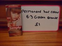 Ladies golden blonde hair dye