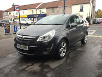 Vauxhall Corsa 1.2 Petrol 3 Door Manual Hatchback Grey 2011 Fantastic Car