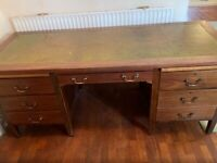 """Attractive Retro Pedestal desk £149 W72""""x H 30""""x Depth 27.5"""""""